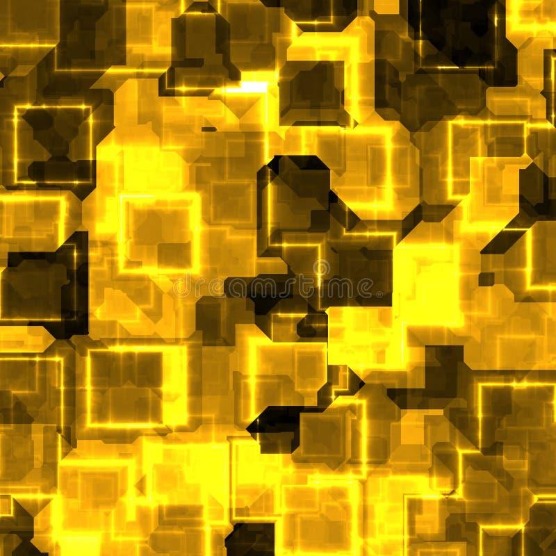Goud gekleurde rots stock illustratie