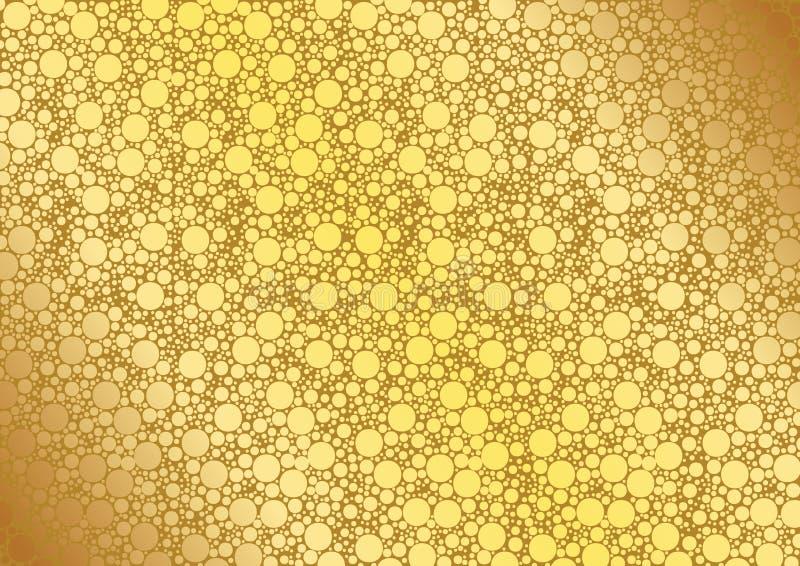 Goud gestippelde achtergrond royalty-vrije illustratie