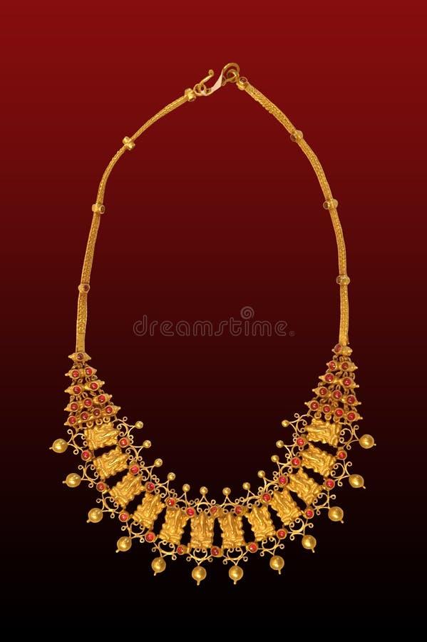 Goud hals-minder royalty-vrije stock afbeeldingen