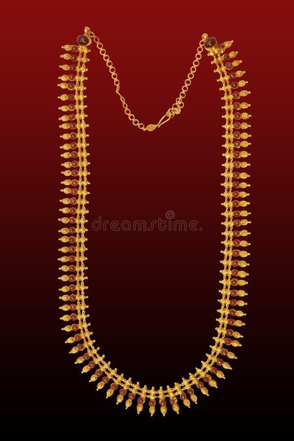 Goud hals-minder stock afbeelding