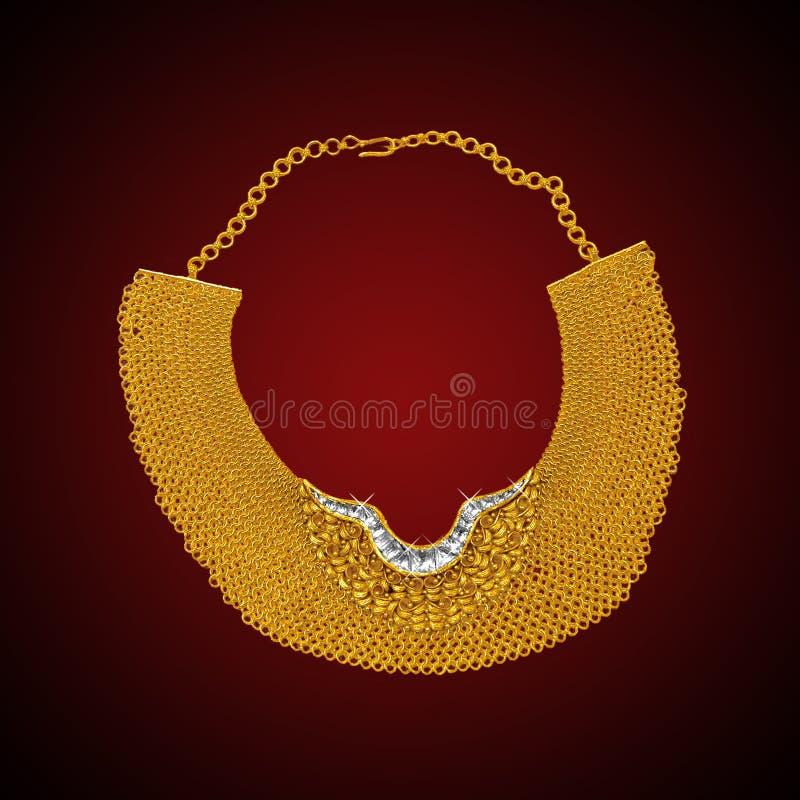 Goud hals-minder royalty-vrije stock fotografie