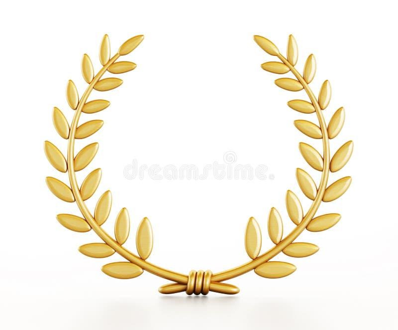 Goud laurels royalty-vrije illustratie