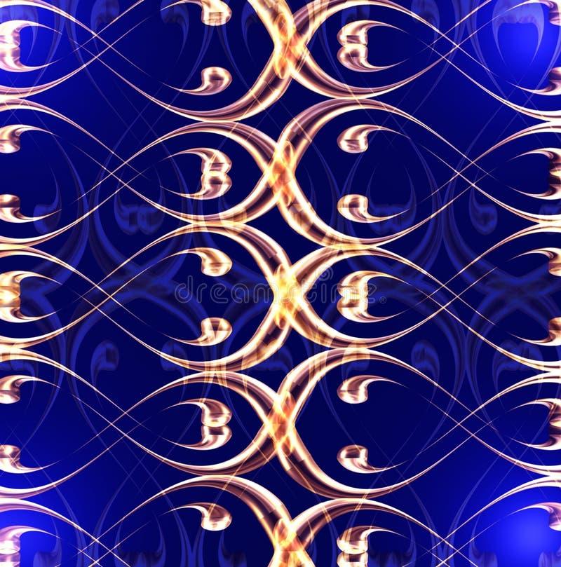 Goud op blauw vector illustratie