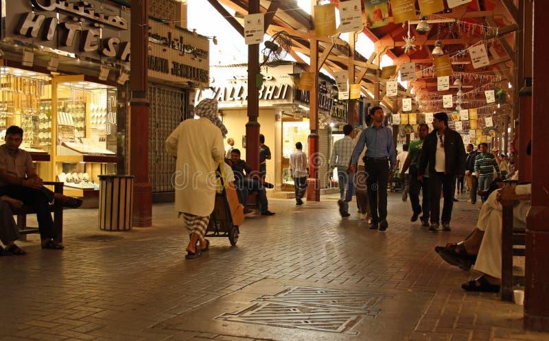 Goud souk (markt) in Doubai stock fotografie