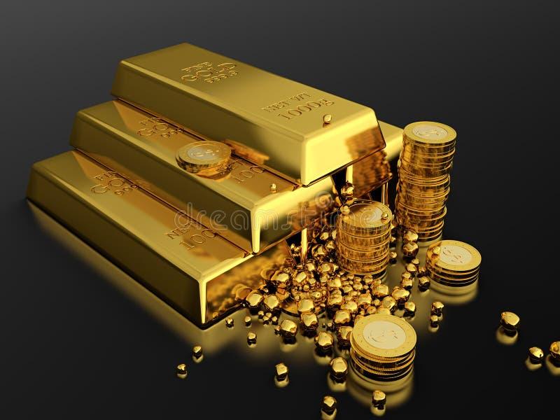 Goud standart royalty-vrije illustratie
