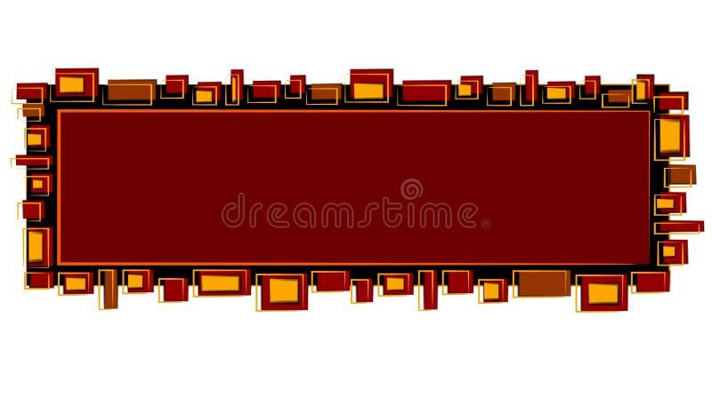 Goud van het Embleem van de Web-pagina het Rode Zwarte royalty-vrije illustratie