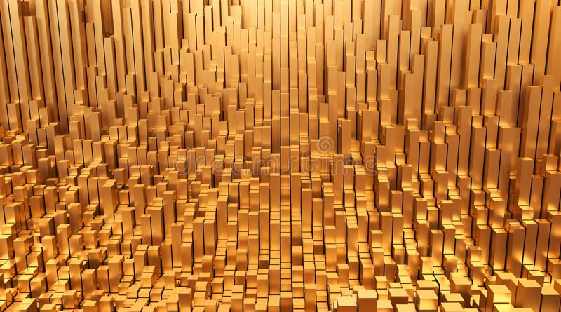 goud Van het geld abstracte ontwerp 3d illustratie als achtergrond vector illustratie