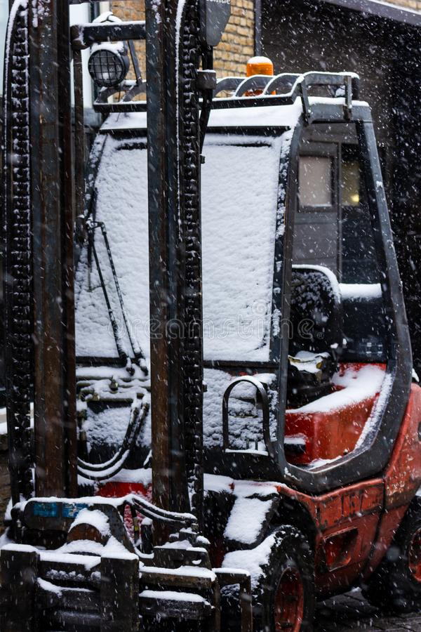 Gouda, South-Holland/The Netherlands - January 22 2019: First real snow in the Netherlands in 2019 a walk through the inner city stock photos