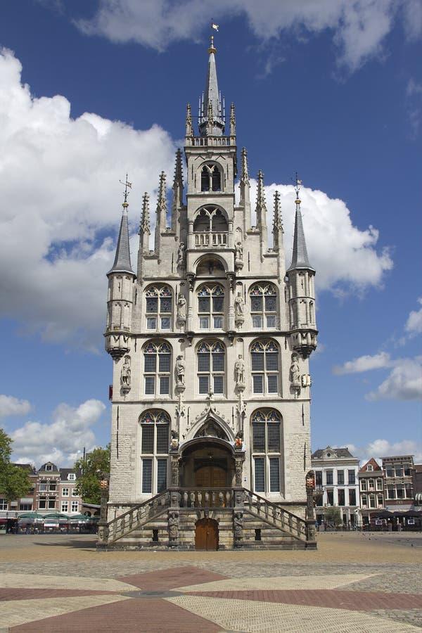 Gouda Townhall, Holland stock fotografie