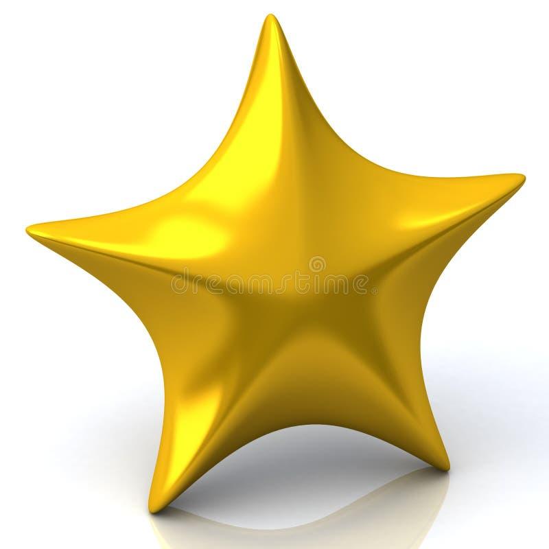 Gouden 3d ster vector illustratie