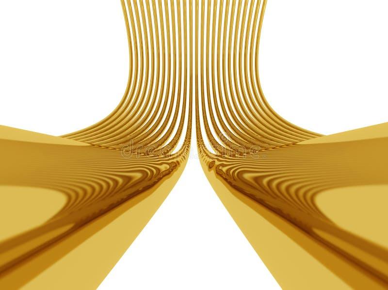 Gouden aansluting vector illustratie