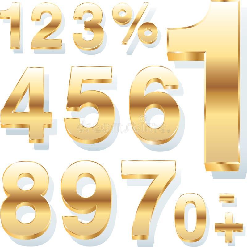 Gouden aantallen royalty-vrije illustratie