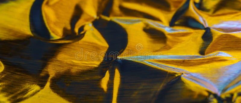 Gouden Abstract Aluminium royalty-vrije stock foto