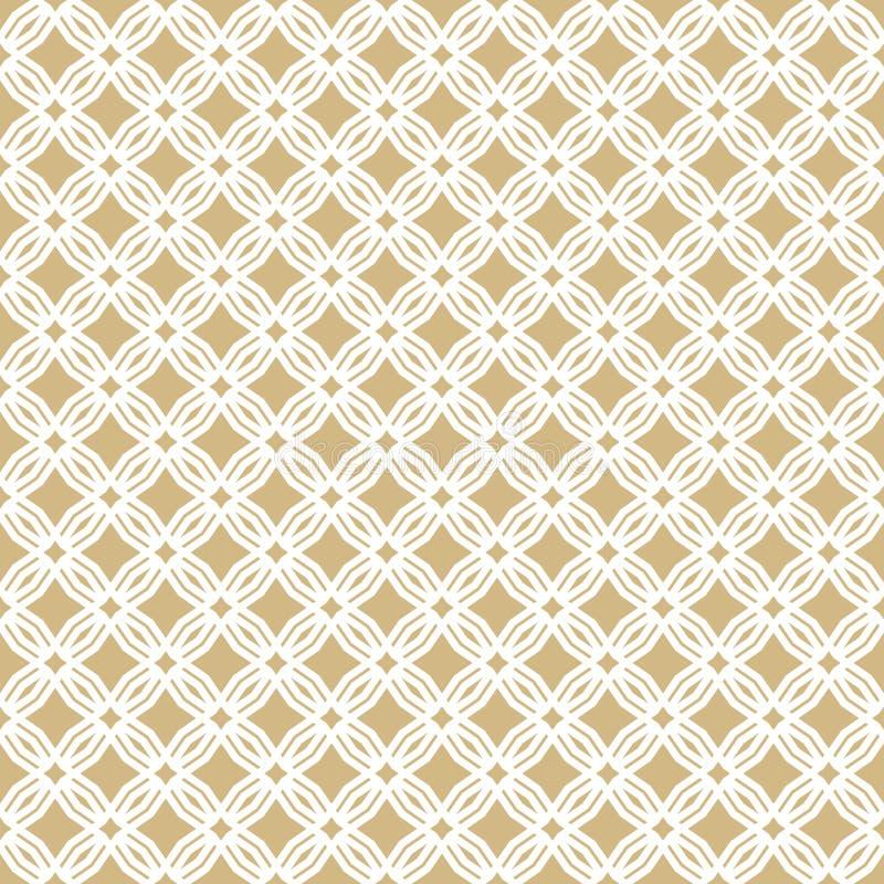 Gouden abstract geometrisch naadloos patroon in oosterse stijl Gouden Ornament royalty-vrije illustratie