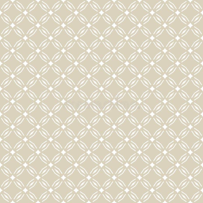 Gouden abstract geometrisch naadloos patroon in oosterse stijl Gouden Ornament vector illustratie