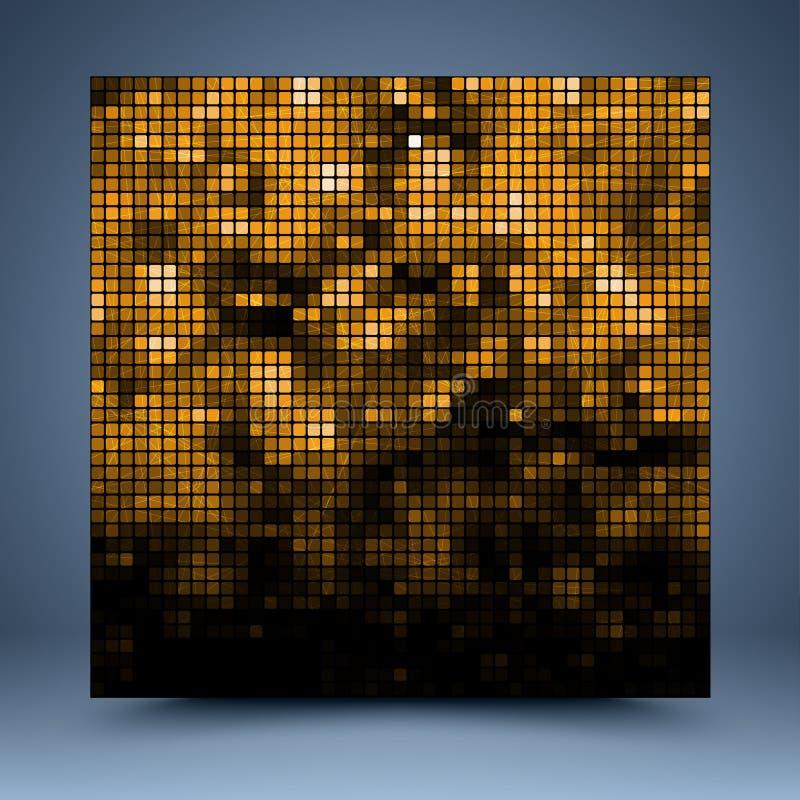 Gouden abstract malplaatje stock illustratie