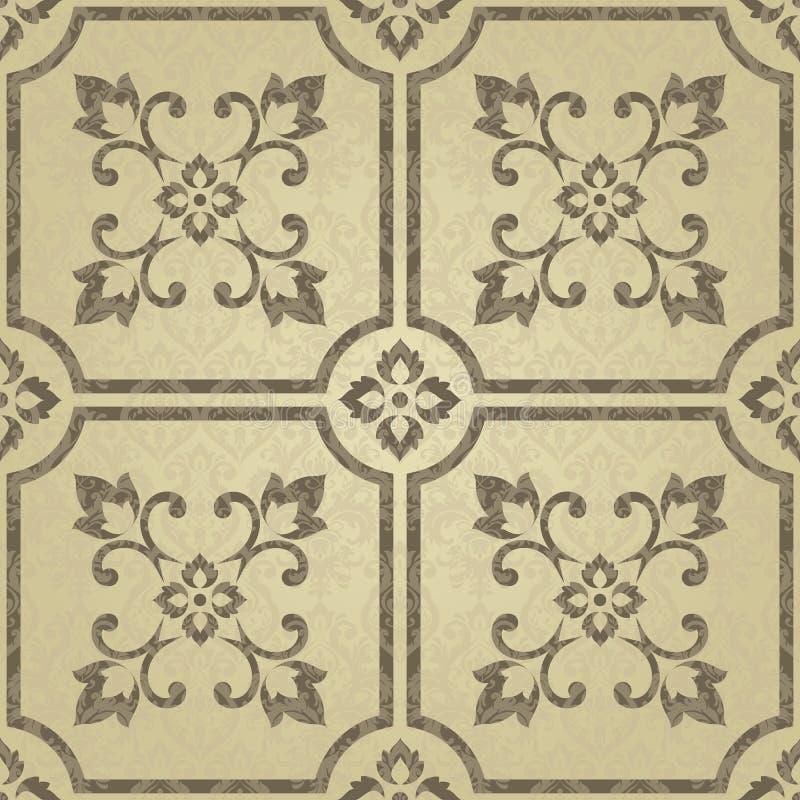 Gouden abstract patroon in Arabische stijl Naadloze vectorachtergrond met bloementegels Elegante gouden textuur Ontwerp voor deco royalty-vrije illustratie