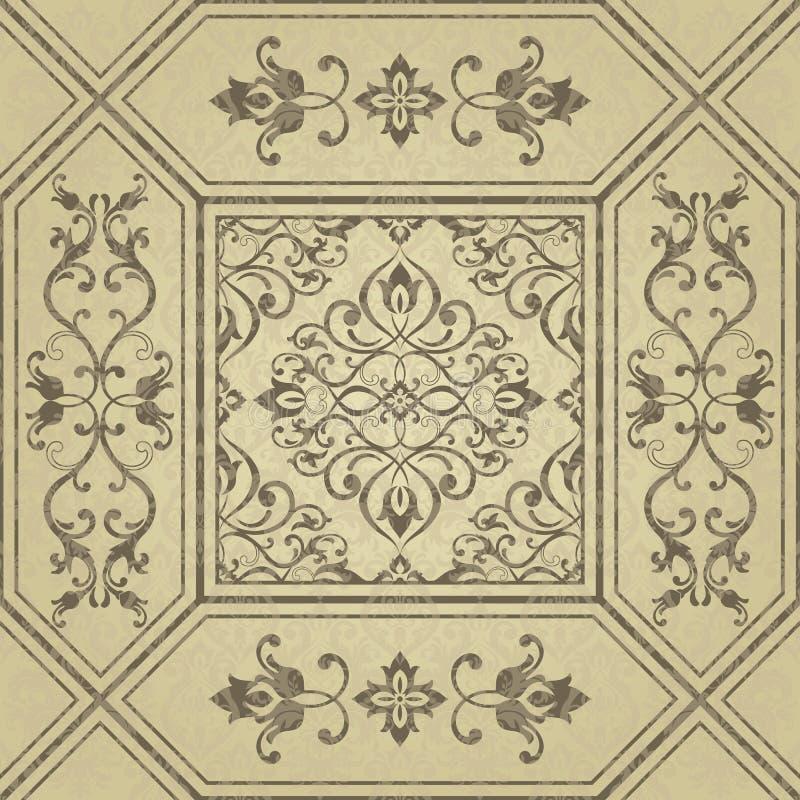 Gouden abstract patroon in Arabische stijl Naadloze vectorachtergrond met bloementegels Elegante gouden textuur Ontwerp voor deco vector illustratie