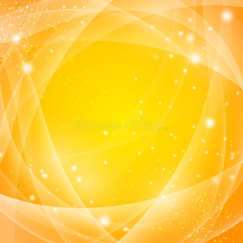 Gouden abstracte achtergrond stock illustratie