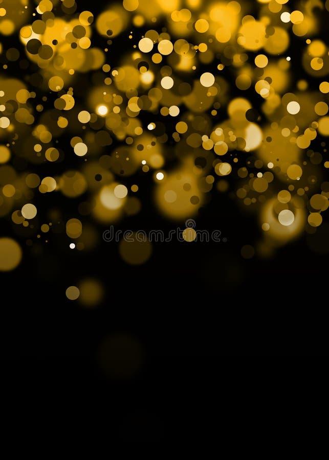 Gouden Abstracte Bokeh-Achtergrond vector illustratie