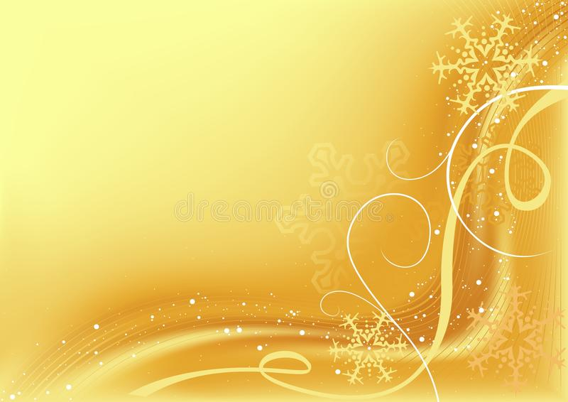 Gouden Abstracte Kerstmis stock illustratie