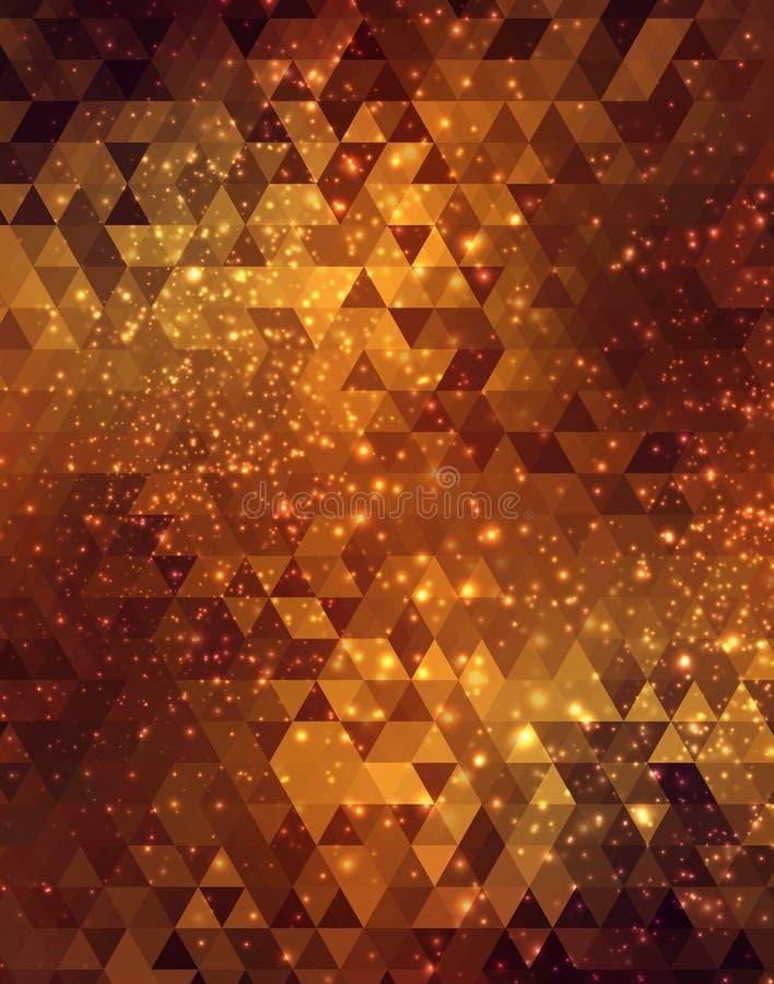 Gouden abstracte mozaïekachtergrond vector illustratie