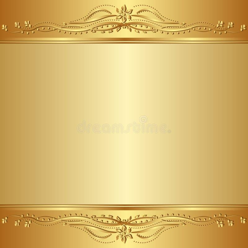 Gouden achtergrond stock illustratie
