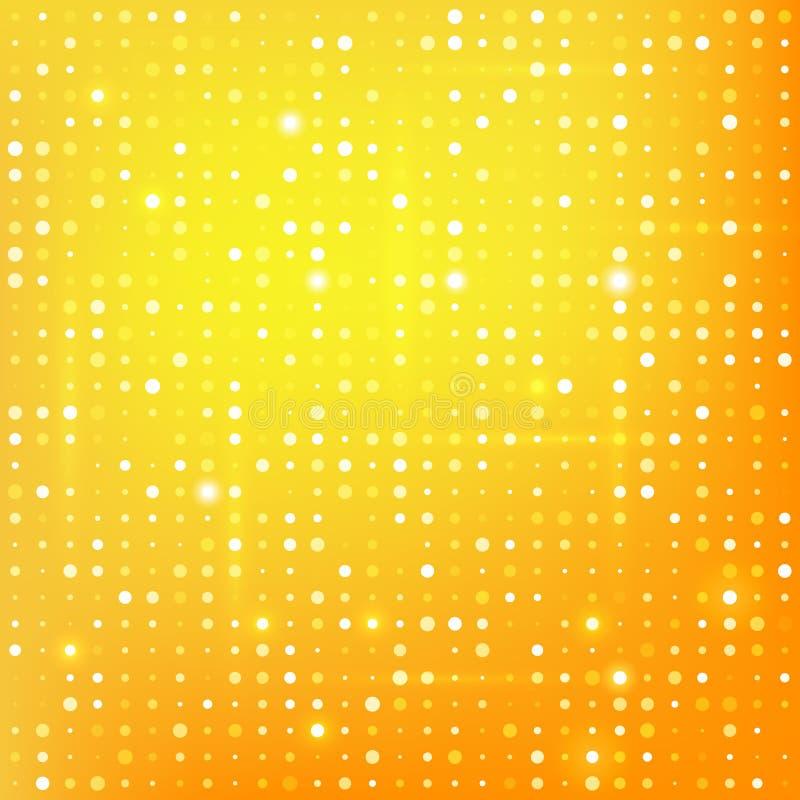 Gouden achtergrond met punten vector illustratie