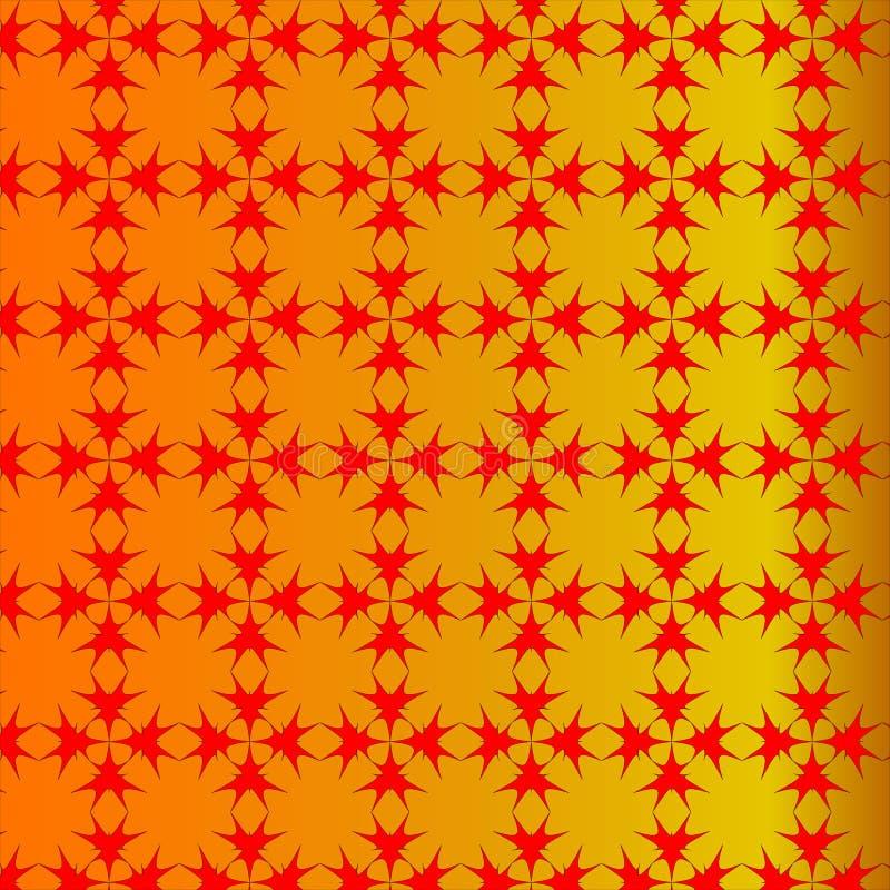 Gouden achtergrond met rood creatief ontwerp royalty-vrije illustratie