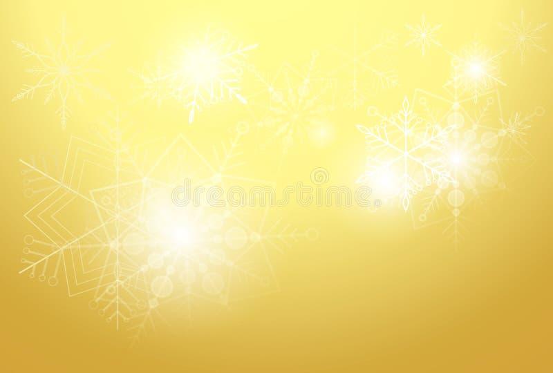 Gouden achtergrond met sterren stock foto