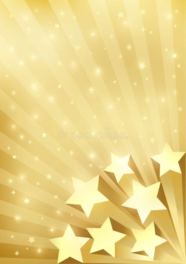 Download Gouden Achtergrond Met Sterren Vector Illustratie - Illustratie bestaande uit achtergrond, festival: 54088743