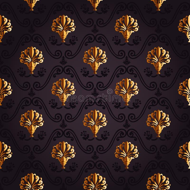 Download Gouden Achtergrond Naadloze Decorwijnoogst Vector Illustratie - Illustratie bestaande uit tuin, grafisch: 54089103