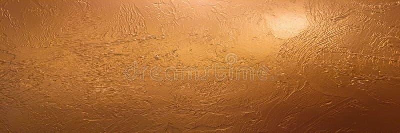 Gouden achtergrond of textuur en gradiëntenschaduw Glanzende gele de textuurachtergrond van de blad gouden folie Het gouden docum stock foto