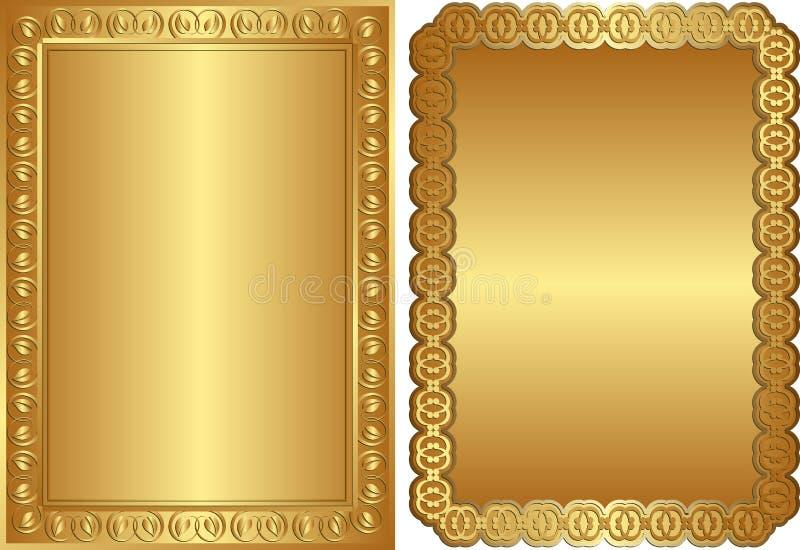 Download Gouden achtergronden vector illustratie. Illustratie bestaande uit art - 24787148
