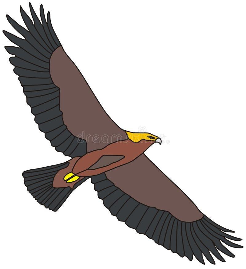 Gouden adelaar royalty-vrije illustratie