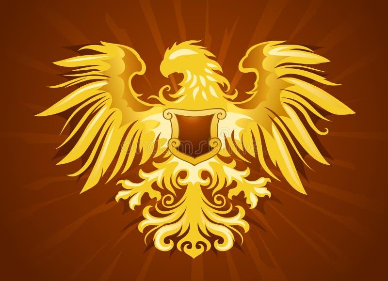 Gouden adelaarsinsignes stock illustratie