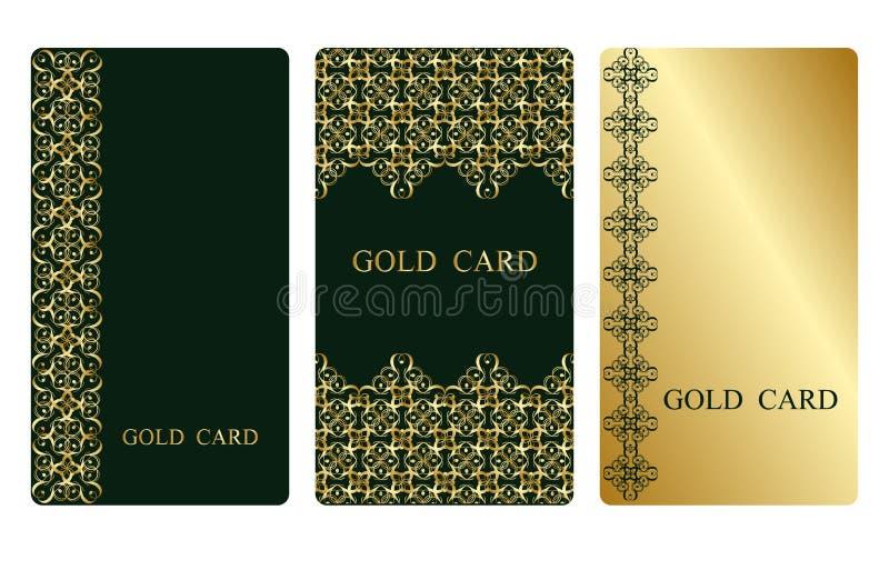 Gouden adreskaartjes vector illustratie