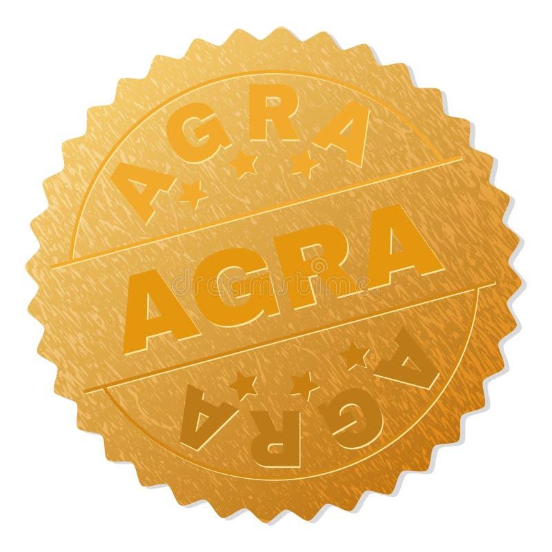 Gouden AGRA-Medaillezegel royalty-vrije illustratie