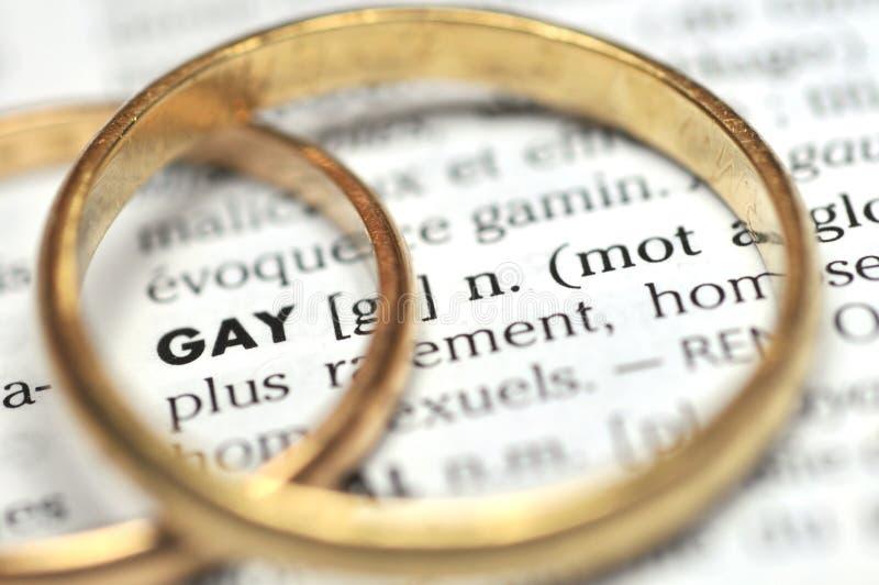 Gouden alliantie die de woordhomosexueel omringen royalty-vrije stock foto