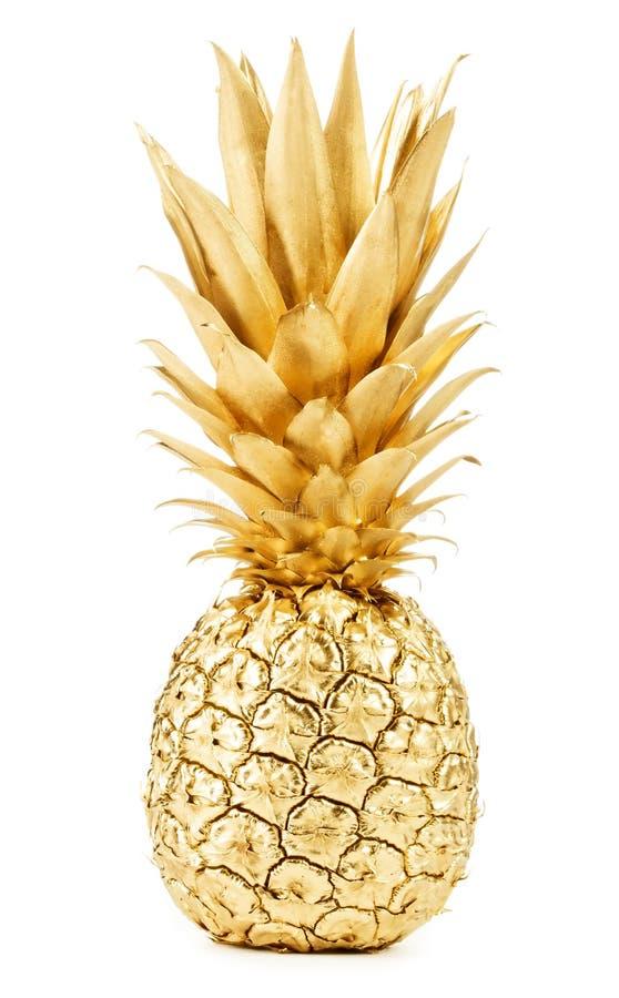 Gouden ananas royalty-vrije stock fotografie