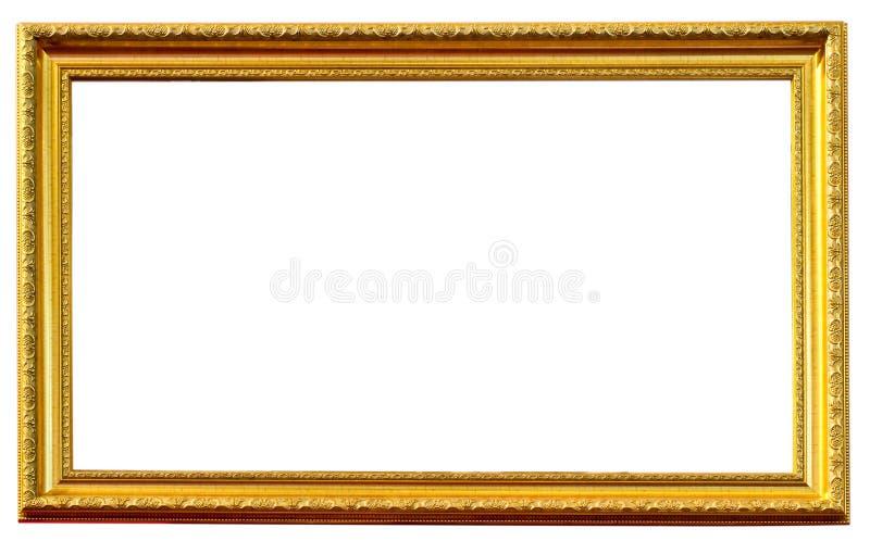 Gouden antiek geïsoleerde frame stock afbeelding