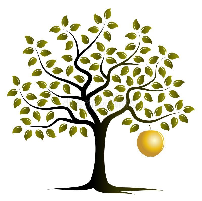 Gouden appelboom stock illustratie