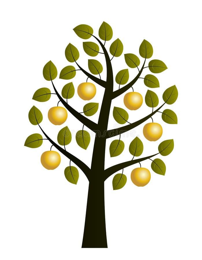 Gouden appelboom royalty-vrije illustratie