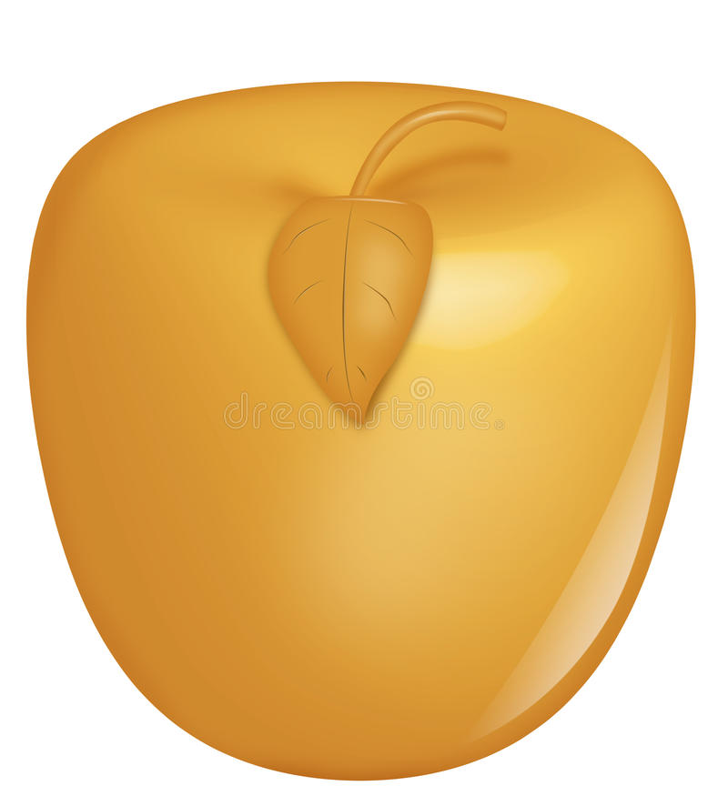 Gouden Apple stock illustratie