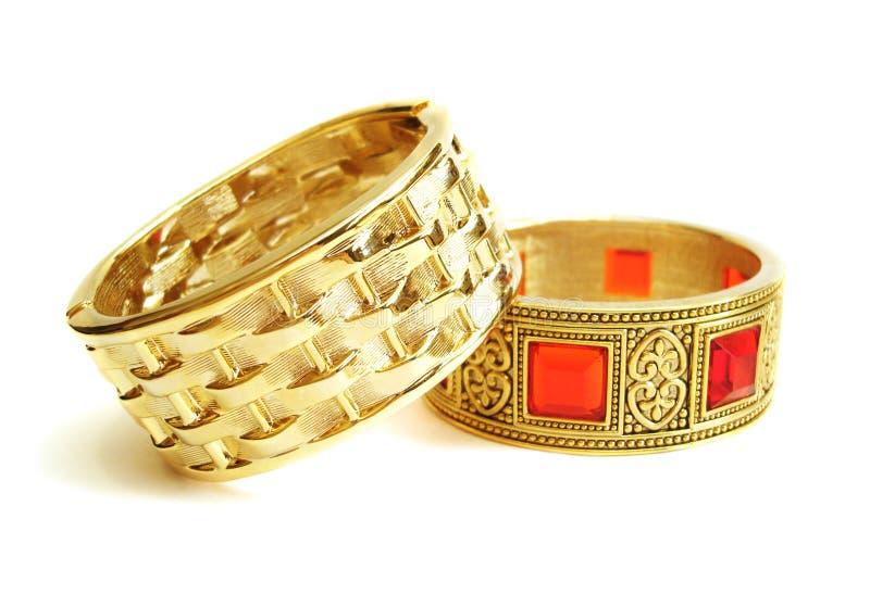 Gouden armbanden royalty-vrije stock fotografie