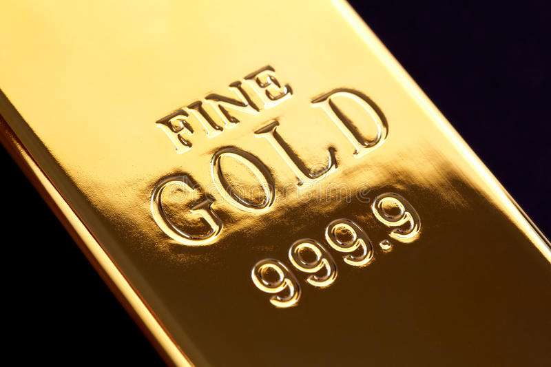 Gouden baar royalty-vrije stock foto's