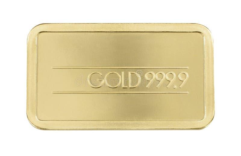 Gouden baar Bar royalty-vrije stock afbeelding