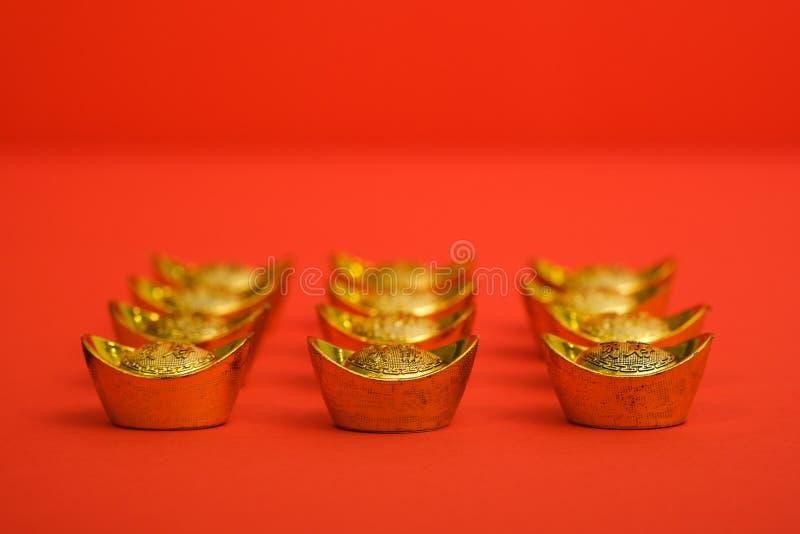 Gouden Baar voor Chinees Nieuwjaar stock afbeelding