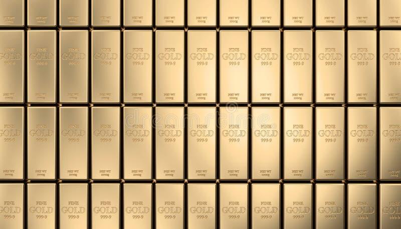 Gouden baarachtergrond vector illustratie