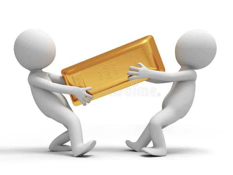 Gouden baksteen stock illustratie